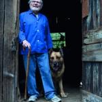 Maurice Sendak mit Hund