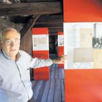 Ausstellungsweg. Federico Steinhaus hat bis 2006 mehr als 40 Jahre lang die jüdische Gemeinde geleitet. Der aktuelle Ausstellungsreigen erzählt von einer wechselhaften Geschichte./© Reinhard Engel