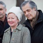 Hubert Lobnik, Iris Andraschek und János Kárász (v. li. n. re.) bei der Eröffnung des neuen Gedenkortes am 10. November 2011/ © Christa Zauner