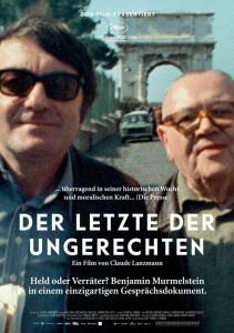 Der Letzte der Ungerechten. Ein Interviewfilm von Claude  Lanzmann mit Benjamin Murmelstein. Frankreich 2013. Dor-Film in  Koproduktion mit Synechdoche,  Le Pacte, Les Films Aleph