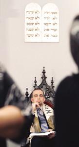 """In den Südstaaten unterwegs.  Der """"reisende Rabbi"""" Marshal Klaven betreut 110 Gemeinden."""