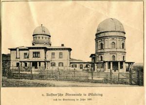 In der Kuffner'schen Sternwarte (re.) wurden über Jahre 8.468 Sterne katalogisiert und in Publikationen beschrieben.