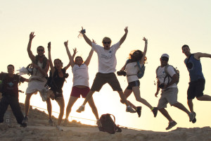 Stärkung der jüdischen Idee. Birthright-Reisende auf Masada.