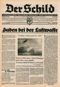 """""""Juden bei der Luftwaffe."""" Der Schild war die verbandseigene Zeitung."""