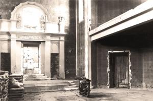 Ehemalige Synagoge St Pölten. Verwüsteter Toraschrein nach dem Novemberprogom 1938.