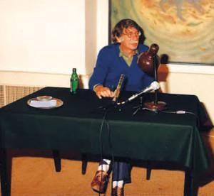 George Tabori bei einer Lesung im Gemeindezentrum der IKG Wien, 1988.