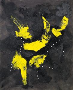 Lucio Fontanas Concetto Spaziale. Der 1968 verstorbene Avantgardekünstler erreicht heute international Rekordpreise.