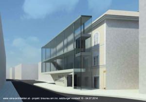 Ein schmaler Baukörper vor dem denkmalgeschützten Bestand, so das Konzept des Wiener Architekten Gerhard Vana.