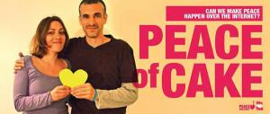 Können wir über Internet Frieden schaffen? fragen sich Joujou von Palestine Loves Israel und Ron von Peace Factory sind .