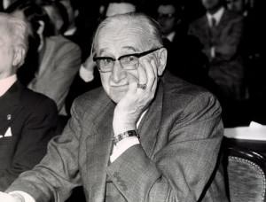 Friedrich August Hayek unterrichtete in den 1940er-Jahren an der London School of Economics. Er gilt als Vater des Neoliberalismus und erhielt 1974 den Nobelpreis.