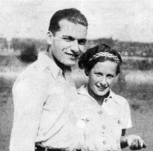 Maria Szécsi (mit Jura Soyfer) Anfang der 1930er-Jahre.